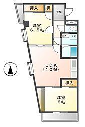 愛知県名古屋市熱田区森後町2丁目の賃貸マンションの間取り