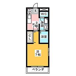 アウルスクエア[3階]の間取り