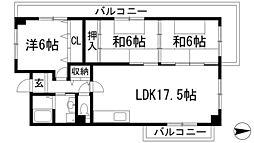 リゾうねの1[5階]の間取り