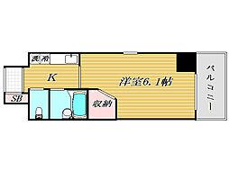 埼玉県川口市西川口3丁目の賃貸マンションの間取り