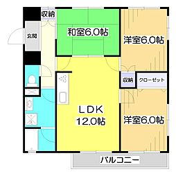 サニーコート志木[2階]の間取り