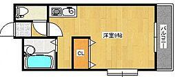 ロイヤルヴィラ下伊福[2階]の間取り