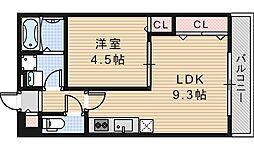 KTIレジデンス阿倍野[303号室]の間取り