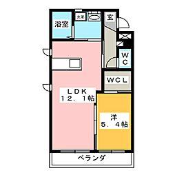 メゾン・グランディ壱番館[2階]の間取り