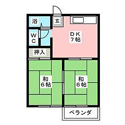 メゾンれんげ台[2階]の間取り