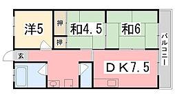 メゾン東加古川[402号室]の間取り