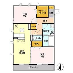 D-room ルーフハウスA[2階]の間取り