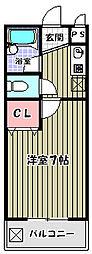 ヴォーヌング三国ヶ丘[1階]の間取り