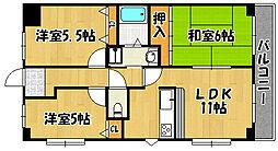 エスポワール西神戸 1階3LDKの間取り