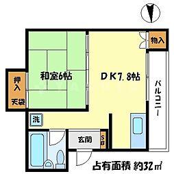 コーポ山田[5階]の間取り