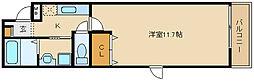 近鉄南大阪線 恵我ノ荘駅 徒歩4分の賃貸アパート 1階1Kの間取り