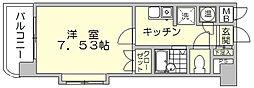 福岡県福岡市博多区比恵町の賃貸マンションの間取り