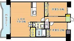 サンディエゴ永野VI[11階]の間取り