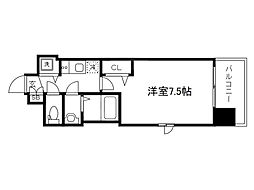 Osaka Metro堺筋線 天神橋筋六丁目駅 徒歩6分の賃貸マンション 6階1Kの間取り