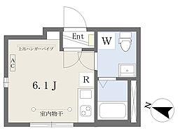 東京メトロ南北線 王子神谷駅 徒歩5分の賃貸マンション 3階ワンルームの間取り