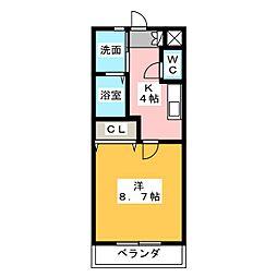 ロイヤル塔塚[1階]の間取り