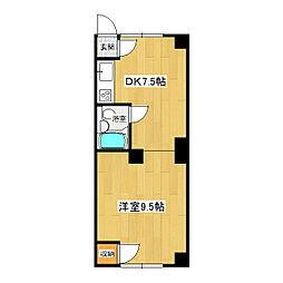 ホワイトキューブ[2-2号室]の間取り