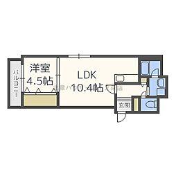 北海道札幌市北区北十九条西5丁目の賃貸マンションの間取り