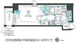 東京メトロ丸ノ内線 西新宿駅 徒歩6分の賃貸マンション 7階1Kの間取り