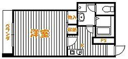 東京都墨田区押上3丁目の賃貸マンションの間取り