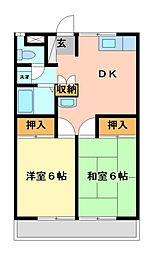 桜沢ハイツ2[1階]の間取り