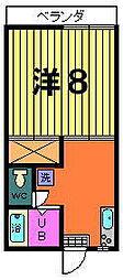 パールハイツ[2−B号室]の間取り
