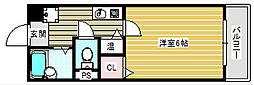 大阪府大阪市住之江区御崎1丁目の賃貸マンションの間取り