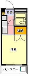 神奈川県相模原市中央区共和2丁目の賃貸マンションの間取り