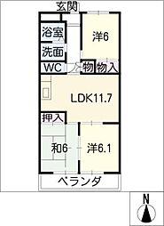 キリンハウス[1階]の間取り