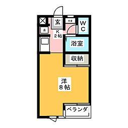 メゾンドキャッスル[2階]の間取り