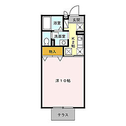 HOM・1(エイチオーエムワン)[1階]の間取り