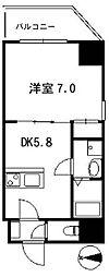 埼玉県所沢市日吉町の賃貸マンションの間取り