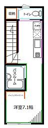 JR中央本線 西荻窪駅 徒歩5分の賃貸アパート 2階1Kの間取り