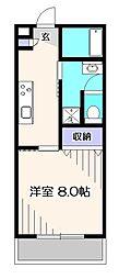 東京都西東京市芝久保町1丁目の賃貸アパートの間取り