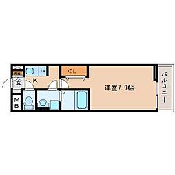 静岡県静岡市駿河区新川2丁目の賃貸アパートの間取り