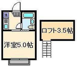 東京都墨田区墨田3丁目の賃貸アパートの間取り