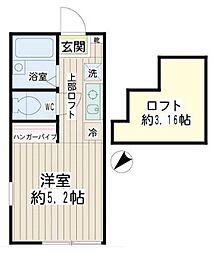 ワイオリ横浜天王町[1階]の間取り