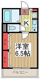 埼玉県蕨市中央3-の賃貸マンションの間取り