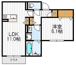 グランファミーユ天王寺[1階]の間取り