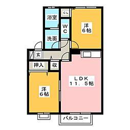 フォーエバー八坂II[2階]の間取り