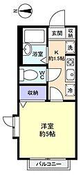 ソレイユ勝田台[1階]の間取り