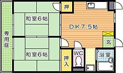 シャトレ大浦III[2階]の間取り