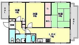 兵庫県神戸市垂水区東垂水1丁目の賃貸マンションの間取り