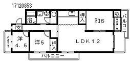 エバーグリーン長居2号棟[3階]の間取り