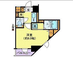 JR総武線 御茶ノ水駅 徒歩8分の賃貸マンション 5階1Kの間取り