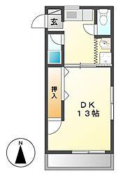 横堀ハイム[2階]の間取り