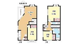 [テラスハウス] 大阪府豊中市上野西1丁目 の賃貸【/】の間取り