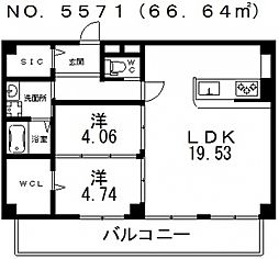 仮称)寺田町1丁目新築マンション[301号室号室]の間取り