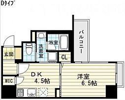 プレサンスNEO心斎橋[8階]の間取り