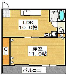 サンライズ常磐[3階]の間取り